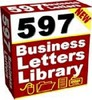 NEW - 597 Business Letters Library with Master Resell Rights