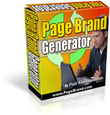 Product picture Page Brand Generator with MRR