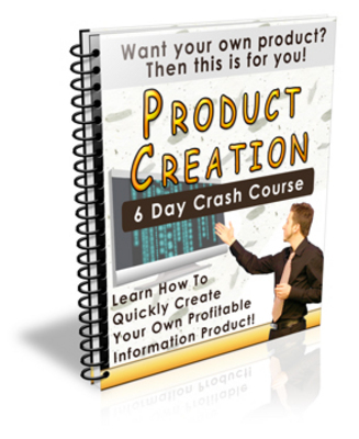 Product picture Product Creation 6 Day Crash Course PLR Included