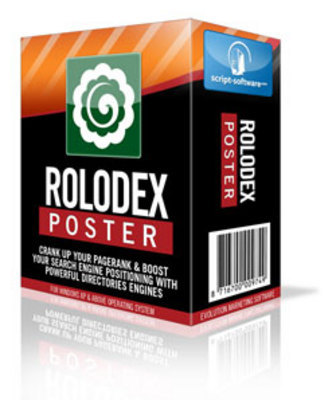 Product picture Rolodex Poster Directory Submission Software -Resale Rights