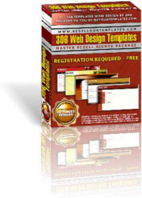 Product picture 306 Web Design Templates - With Master Resell Rights